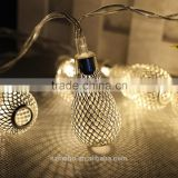 20 leds String Light AA Battery Operated Christmas Garland Light Fairy Xmas Wedding Festival Home Decoration hollow pendant