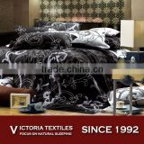 100 cotton white and black mix color bed doona quilt cover set BRAND NEW