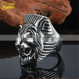 fashion stainless steel size 6-12 ring with lion head replica