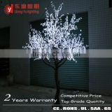 indoor LED artificial plant tree white cherry blossom lighted white glitter artificial tree for wedding