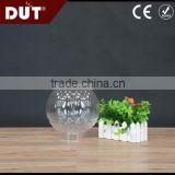 GD026-S-150-C transparent 150mm UV-resistant acrylic vintage plastic round light cover with screw neck