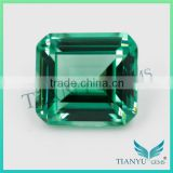 Wholesale Gems Stone for Jewelry Synthetic #22 Green Emerald cut Nano Sital Gemstone price