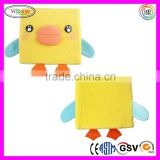 C293 Children's Novelty 3D Animal Plush Cover Diary Notepad Sketchbook Soft Cover Book Printing