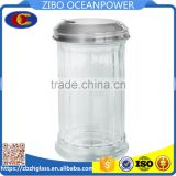 Vertical stripes sesame glass bottle spice jar