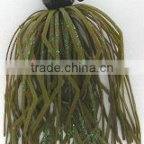 jig head lure; jig head with rubber skirt