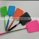 2015 Factory supply high quality telescopic stainless steel Fly swatter with plastic racket,Handheld colorful Fly swatter
