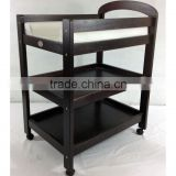 Australia Style Sleigh 3 Tier Solid Wood Portable Baby Change Table