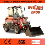 Everun Brand Ce Approved 0.8ton Wheel Loader With Barrel Clamp