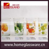 2014 new design hot sale temperature color change glass cup, cold color change glass tumbler, color changing glass cup