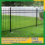 Powder coating picket fence portable easily assembled iron fence