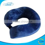 Very Comfortable Somatology Design Car Travel Neck Pillow Memory Foam with Velvet Fibric Case