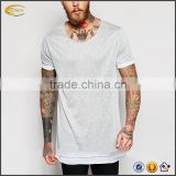 2017 NEW OEM T-Shirt Factory Custom Logo Longline Fitness Workout Running Gym Tshirts For Men