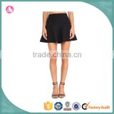 wholesale wool blend winter plain black high waist skirt mini skirt A line skater skirts