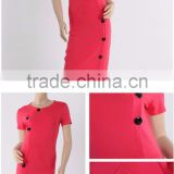 Chinese clothing manufacturer summer dress/ Garment factory casual knit dress / Woman apparel
