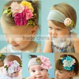 Baby soft hair band infant children tire Vintage Style Headdress head flower Girls hair accessories cotton fabric head band
