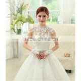 Real Sample Show 2016 Wedding Jacket Customize Real Back Buttons Lace Wedding Wraps Belore Tulle diamond jewel bridal coat