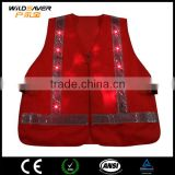 Customized Led strip yellow vest safety reflective jacket for outdoor work