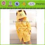 2015 new design coral fleece kids animal bathrobe