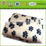 100% polyester polar fleece paw print fleece blanket