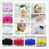 Cotton Bow Headwrap Stretch Bow Headbands baby headband Photo Prop Kids Hair Accessories