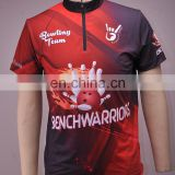 Wholesale OEM sublimated printed bowling shirts