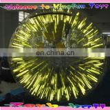 Event/party shinny inflatable zorb ball in yellow