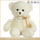 Wholesale China Factory Cream White Plush Stuffed Teddy Bear