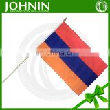 OEM cheap price high quality polyester mini stick waving hand flag