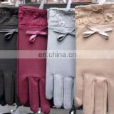 Trendy Ladies Stylish Bow Winter Cute Wool Gloves