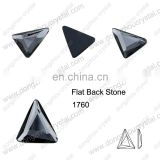 DZ-1760 triangle cut flat back crystal glass stones for jewelry