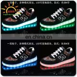 2016 New men's fashion sneakers black running shoes male lighted casual shoes LED glow shoes with OEM logo Free samples