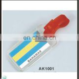 Personalized Bahamas nation flag luggage tag for promotional gifts
