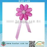 Custom flower embroidery accessory for garment