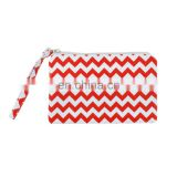 R0035 Red Chevron Canvas Stylish Coin Bag, Cellphone Bag