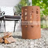Round Fire Pit Corten Steel Barrel for Sale