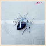 Fashion Blue Crystal Big Spider Animal Safety Pin Brooch