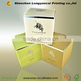 professional printing factory customize new design luxury gift paper box for candle