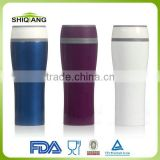 380ml double wall promotional plastic travel mug with push button lid,water 360degree out,leakproof cover BL-5088s