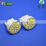 Hot Sell Car Accessory Ledl Light for 7440/3 22smd 1206 auto led bulb t20 led interior light