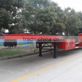 2015 hot selling flat bed semi trailer,tri-axle low bed semi trailer