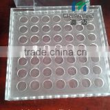 Clear polycarbonate test tube stand