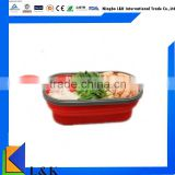 Reusable foldable lunch box, collapsible lunch box,silicone lunch container with lids
