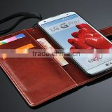 Promotional Phone Protector Radiation Resistant Wallet PU Leather Decorate New Design Mobile Phone Case for LG Optimus G Pro 2                                                                         Quality Choice