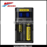 original New Nitecore Battery Charger SC2 Digicharger LCD Display USB Power For Li-ion Battery