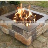 Square Stone Finish Outdoor Patio Gas Fire Pit Burner
