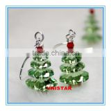 Vnistar high quality wholesale Christmas jewelry glass christmas tree earrings for women VER006