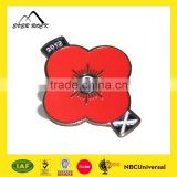 Hot Selling Custom Souvenir Metal Poppy Pin Badge
