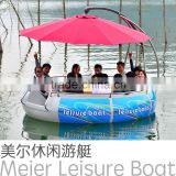 CE and CCS approved LLDPE Hull material BBQ dount boat with electric control motor for sales