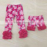 2016 girl knit cotton pant wholesale floral icing pants boutique icing baby leggings                                                                         Quality Choice