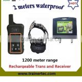 1200Meter waterproof and rechargeable multi-dog system dog training suit